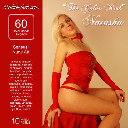 Natasha - `The Color Red` - for NUBILE-ART