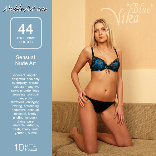 Vika - `Blue` - for NUBILE-ART