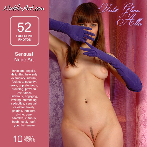 Alla - `Violet Gloves` - for NUBILE-ART