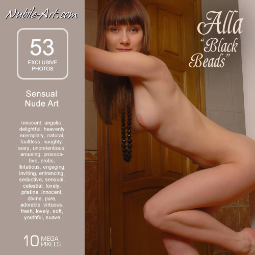Alla - `Black Beads` - for NUBILE-ART