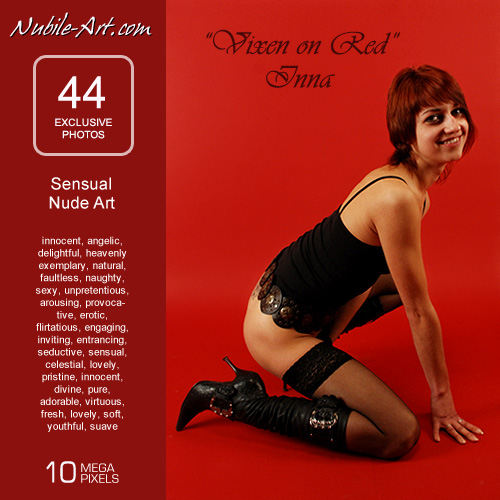 Inna - `Vixen in Red` - for NUBILE-ART