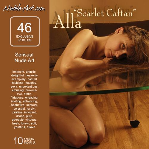 Alla - `Scarlet Caftan` - for NUBILE-ART