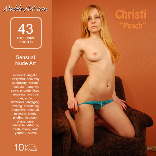 Christi - `Peach` - for NUBILE-ART