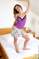 Tajza in Violet nighties gallery from NUBILES