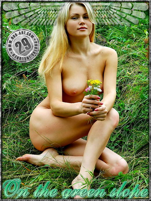 Varvara - `On The Green Slope` - by Inga Michalevskaya for NUD-ART