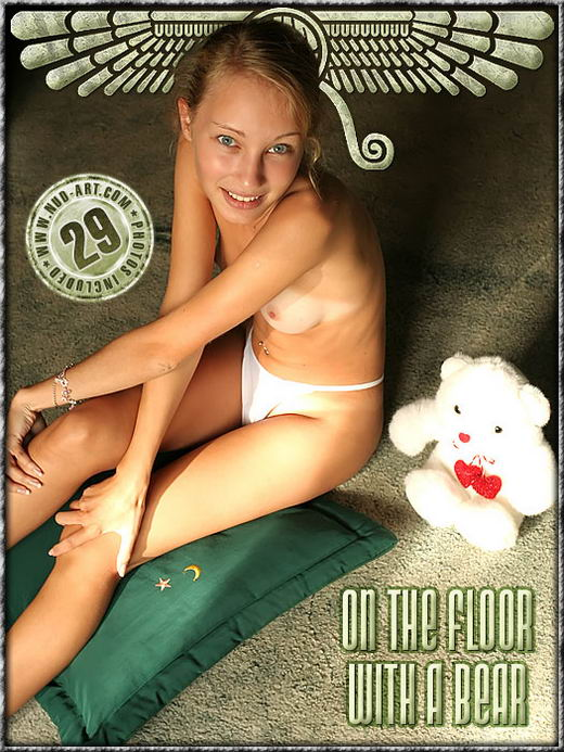 Manya - `On The Floor With A Bear` - by Mixail Romanoff for NUD-ART