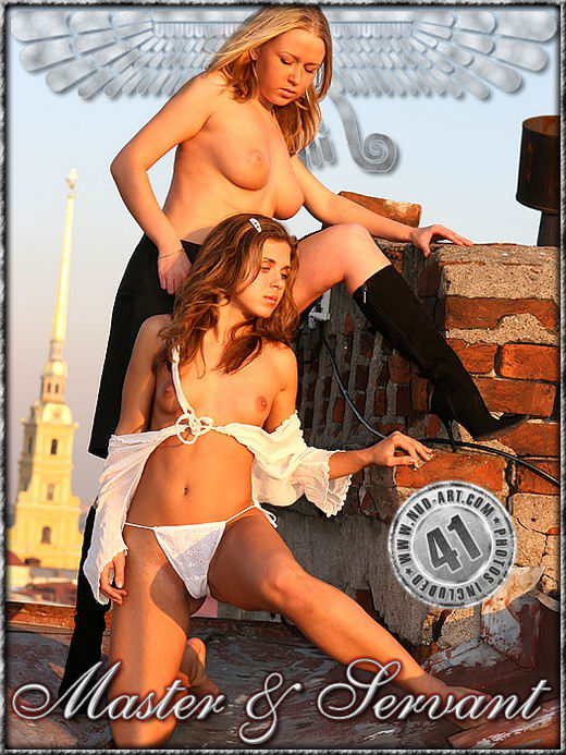 Olesya & Sonya - `Master & Servant` - by Katya Katzer for NUD-ART