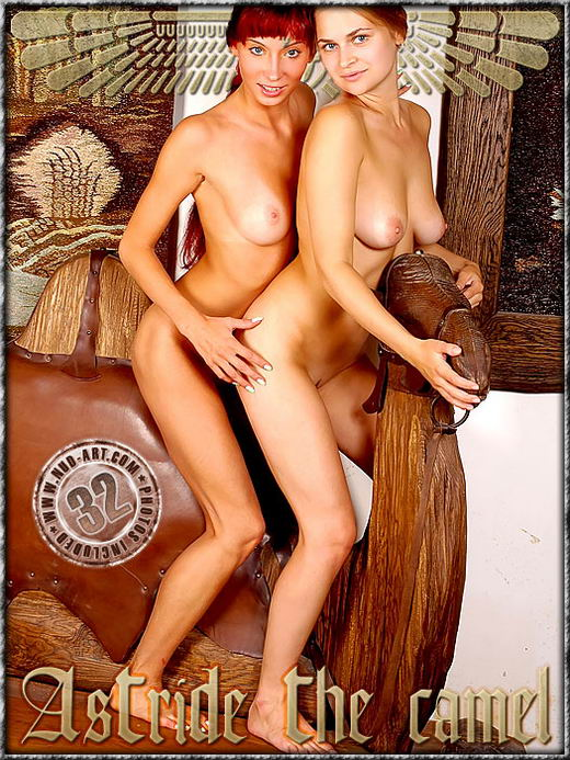Ira & Kseniya - `Astride The Camel` - by Inga Michalevskaya for NUD-ART