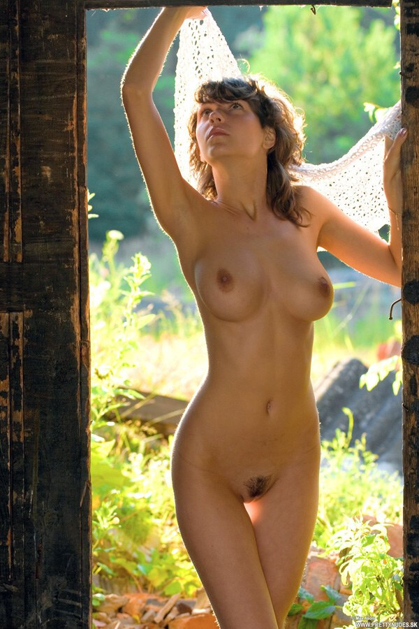 Katya - `Katya By The Cottage` - for NUDE-ARCHIVES