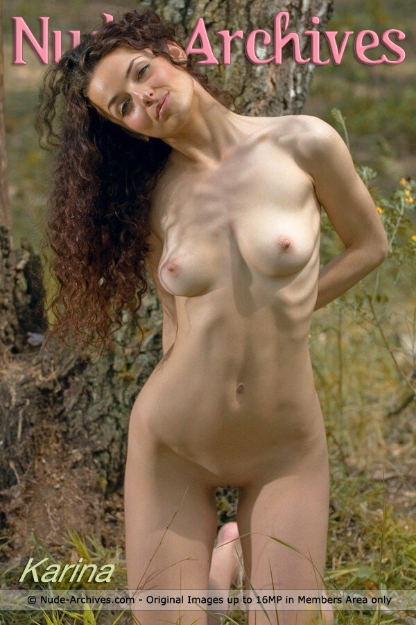 Karina M - `Karina In The Forest` - for NUDE-ARCHIVES