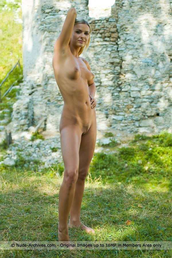 Katy - `Old Sklabina Castle` - by Jaromir for NUDE-ARCHIVES