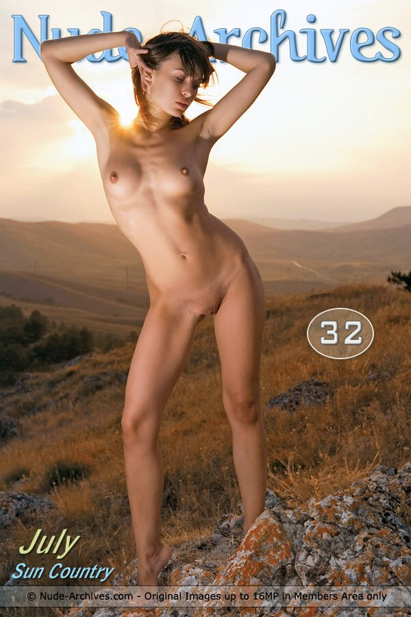 July - `Red Country` - by Max Asolo for NUDE-ARCHIVES