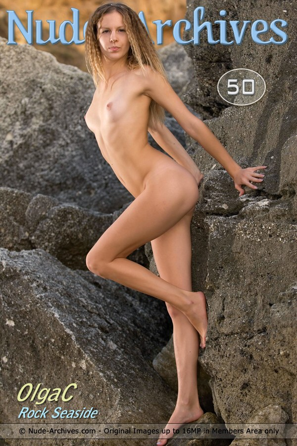 Olga C - `Rock Seaside` - by Max Asolo for NUDE-ARCHIVES