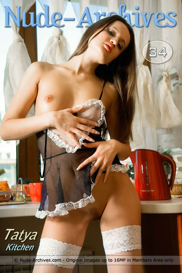 Tatya - `In The Kitchen` - by Max Asolo for NUDE-ARCHIVES
