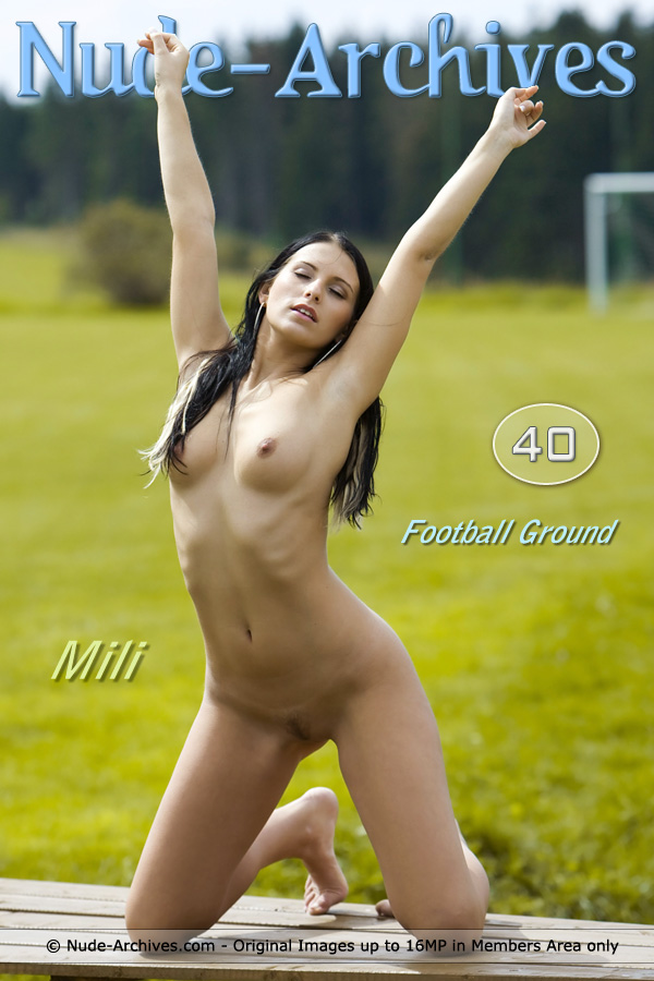 Mili Jay - `Football Playground` - by Jaromir for NUDE-ARCHIVES