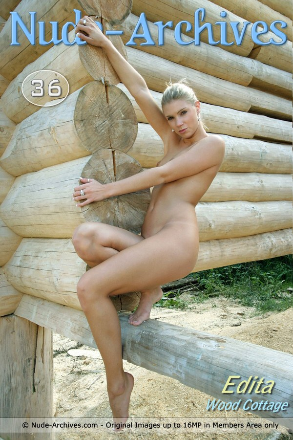 Edita - `Wood Building` - by Jaromir for NUDE-ARCHIVES