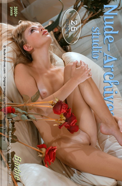 Barbie - `Red Roses` - by Max Asolo for NUDE-ARCHIVES