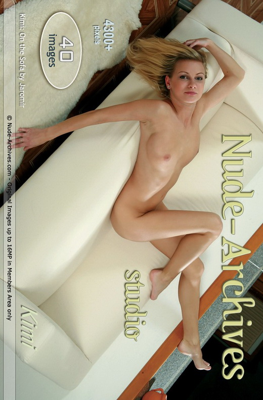 Kimi - `White Sofa` - by Jaromir for NUDE-ARCHIVES