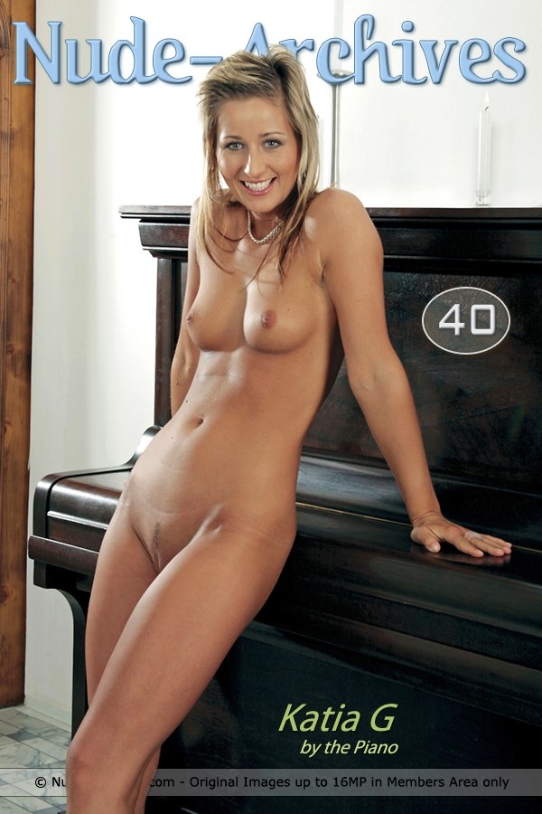 Katia G - `By The Piano` - for NUDE-ARCHIVES