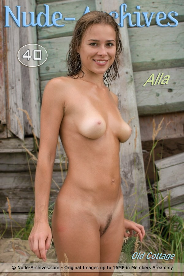 Alla - `Old Cottage` - for NUDE-ARCHIVES