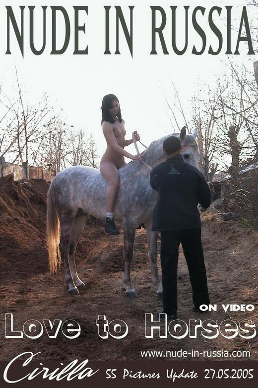 Cirilla - `Love to Horses` - for NUDE-IN-RUSSIA