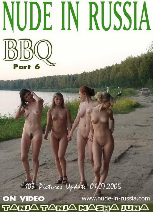 Tanja & Tanja & Masha & Juno - `BBQ - Part VI` - for NUDE-IN-RUSSIA