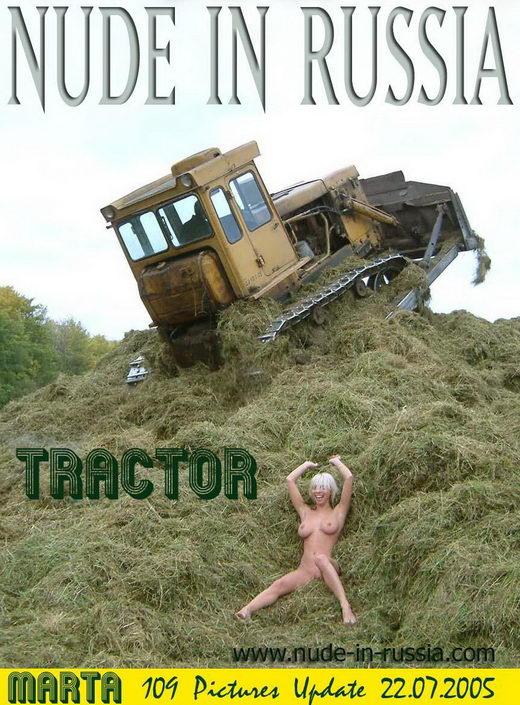 Marta - `Tractor` - for NUDE-IN-RUSSIA