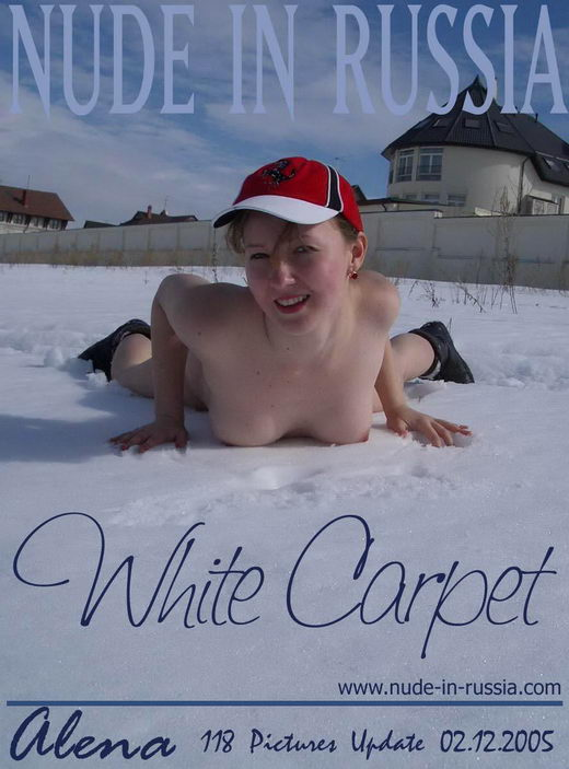 Alena - `White Carpet` - for NUDE-IN-RUSSIA