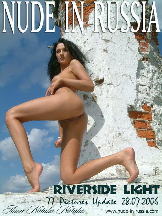 Natalia & Natalia & Anna - `Riverside Light` - for NUDE-IN-RUSSIA