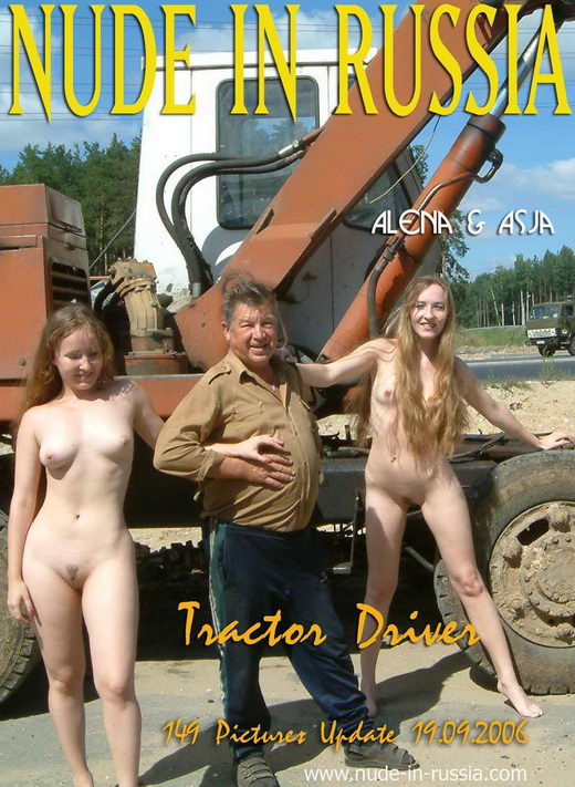 Alena & Asja - `Tractor Driver` - for NUDE-IN-RUSSIA