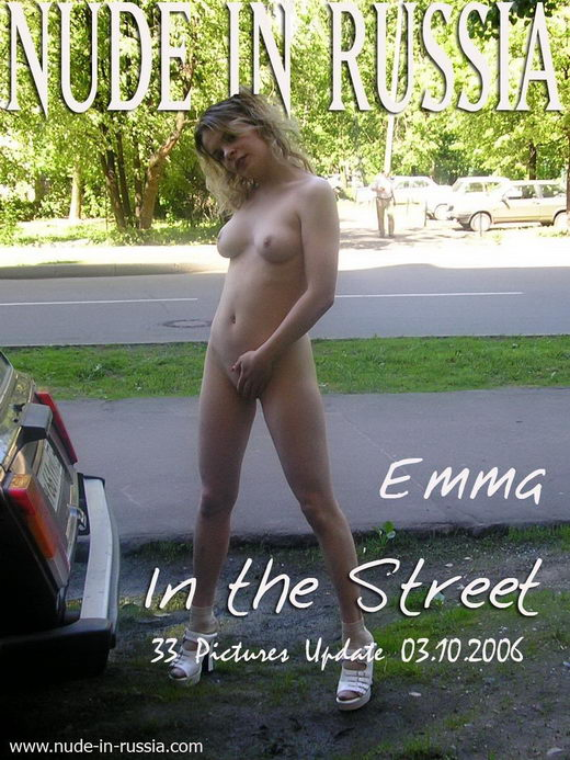 Emma - `In The Street` - for NUDE-IN-RUSSIA