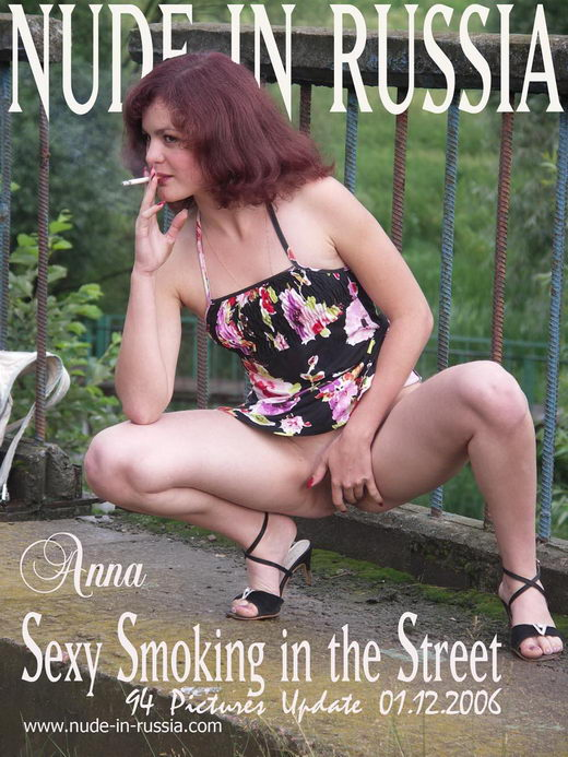Anna - `Sexy smoking in the Street` - for NUDE-IN-RUSSIA