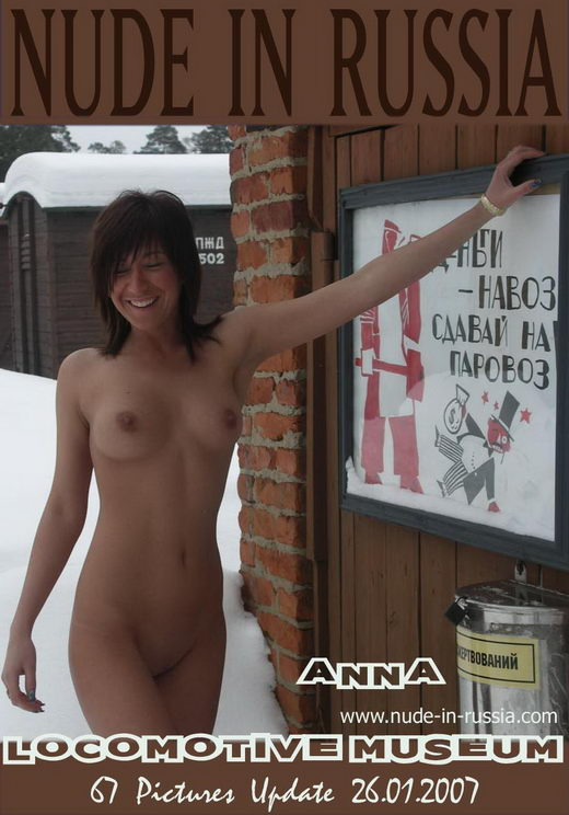 Anna - `Locomotive Museum` - for NUDE-IN-RUSSIA