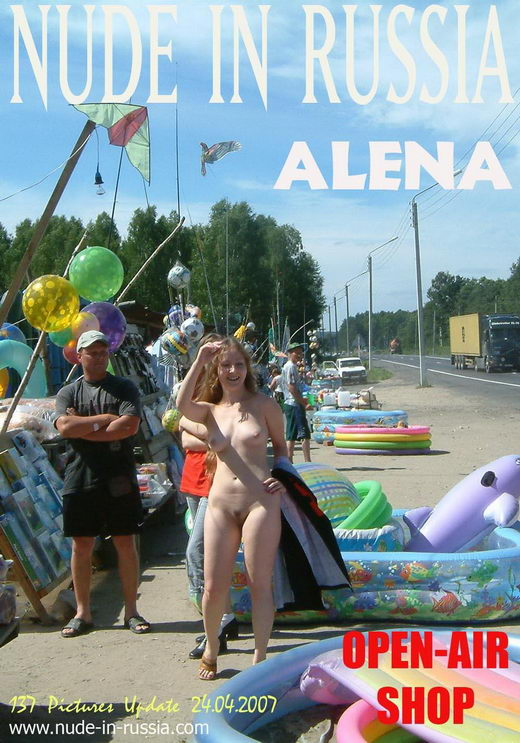 Alena - `Open-Air Shop` - for NUDE-IN-RUSSIA