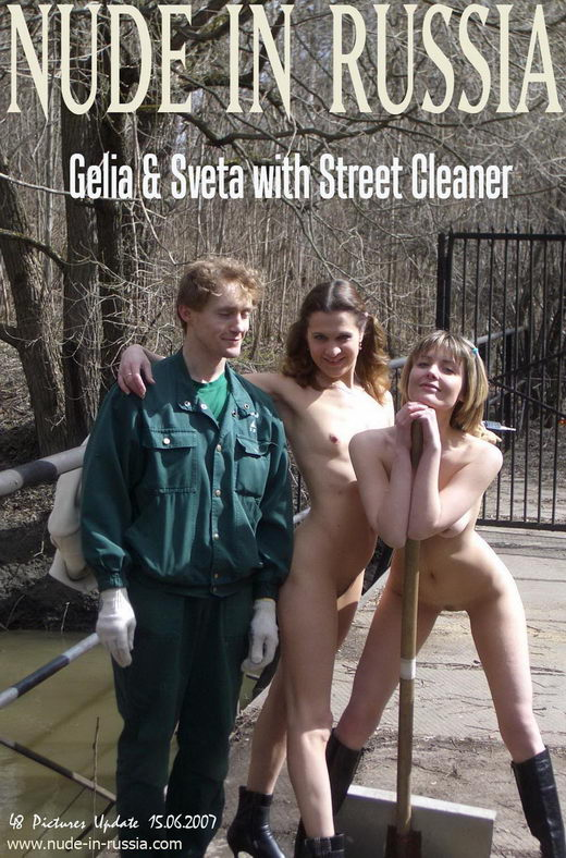 Gelia & Sveta - `With Street Cleaner` - for NUDE-IN-RUSSIA