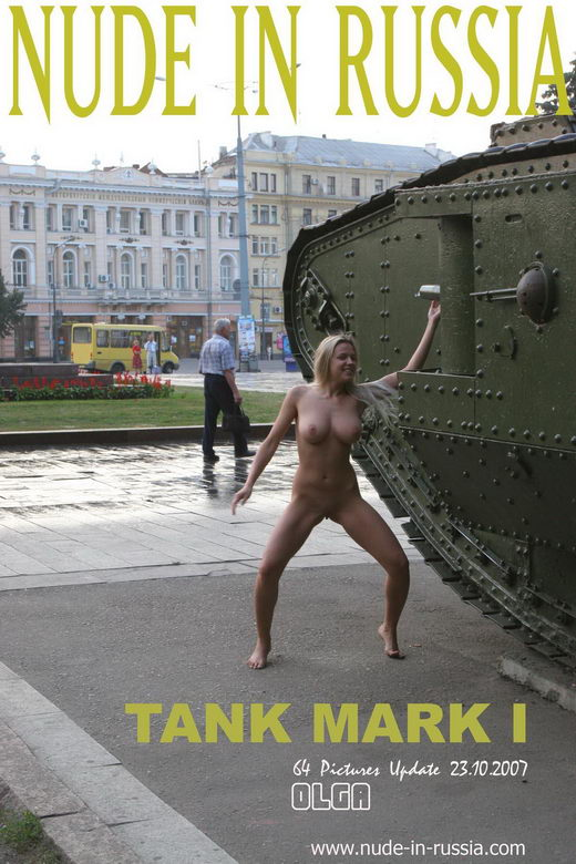 Olga - `Tank Mark I` - for NUDE-IN-RUSSIA