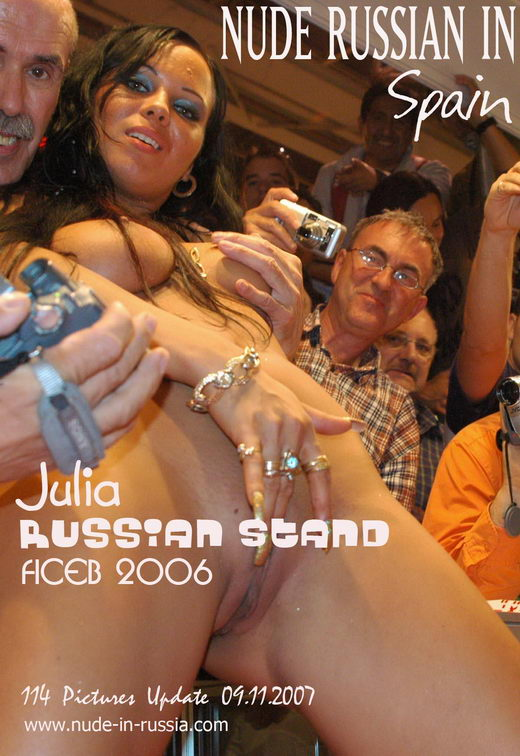 Julia - `Russian Stand` - for NUDE-IN-RUSSIA