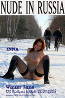 Inna in Winter Lane gallery from NUDE-IN-RUSSIA