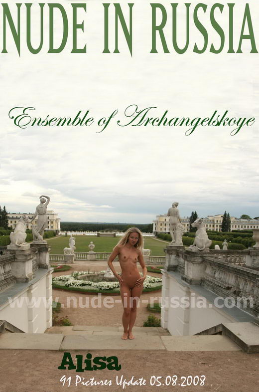 Alisa - `Ensemble of Archangelskoye` - for NUDE-IN-RUSSIA