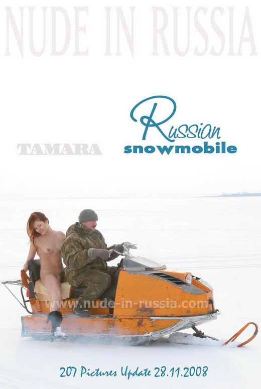 Tamara - `Russian Snowmobile` - for NUDE-IN-RUSSIA