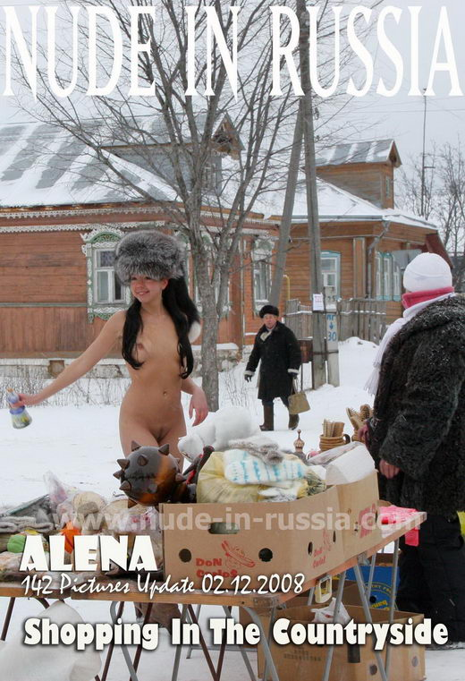 Alena - `Shopping In The Countryside` - for NUDE-IN-RUSSIA