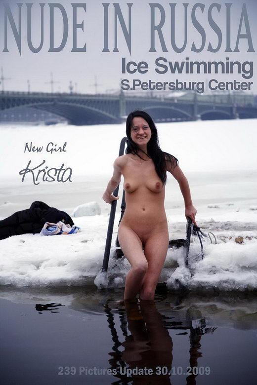 Krista - `Ice Swimming` - for NUDE-IN-RUSSIA
