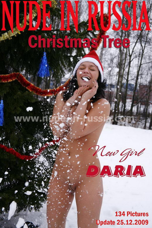 Daria - `Christmas Tree` - for NUDE-IN-RUSSIA