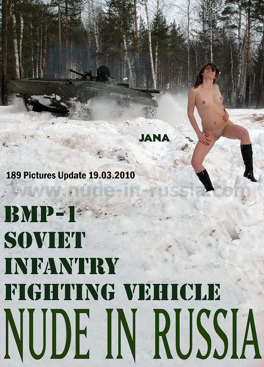 Jana - `Soviet Infantry Fighting Vehicle` - for NUDE-IN-RUSSIA