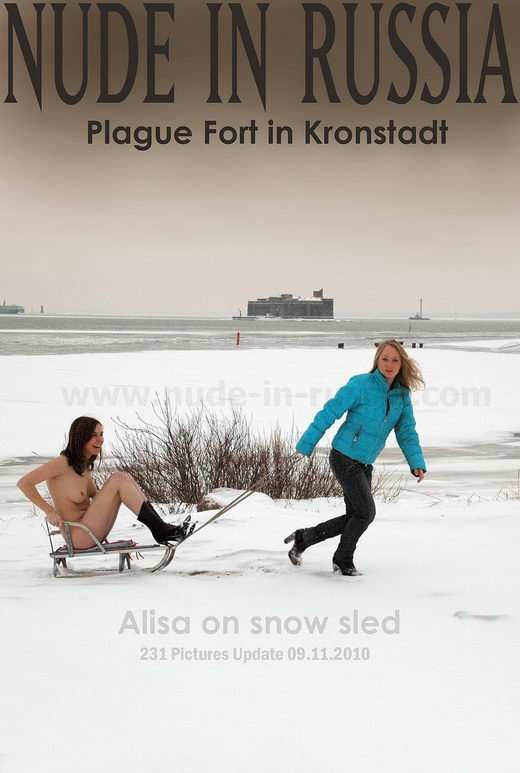 Alisa - `On Snow Sled` - for NUDE-IN-RUSSIA