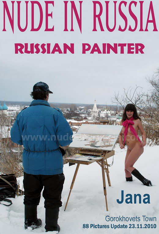 Jana - `Russian Painter` - for NUDE-IN-RUSSIA