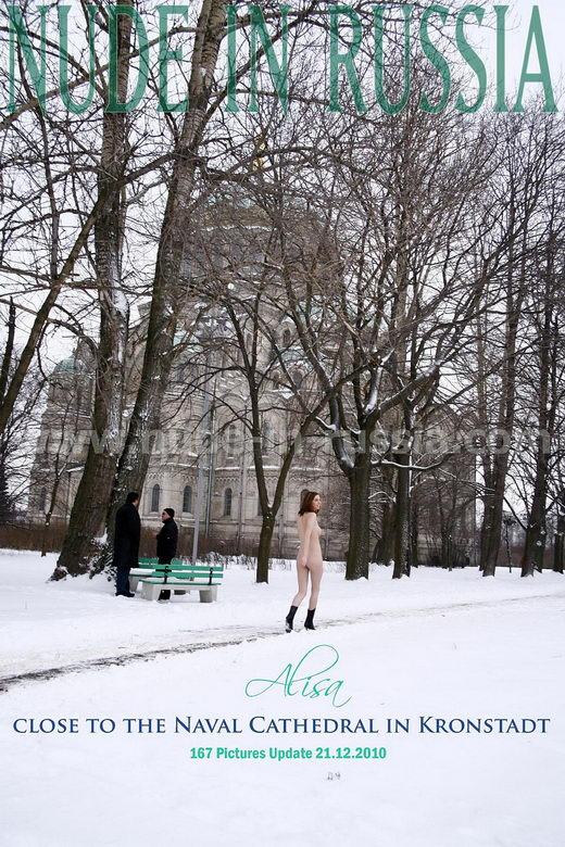 Alisa - `Naval Cathedral in Kronstadt` - for NUDE-IN-RUSSIA