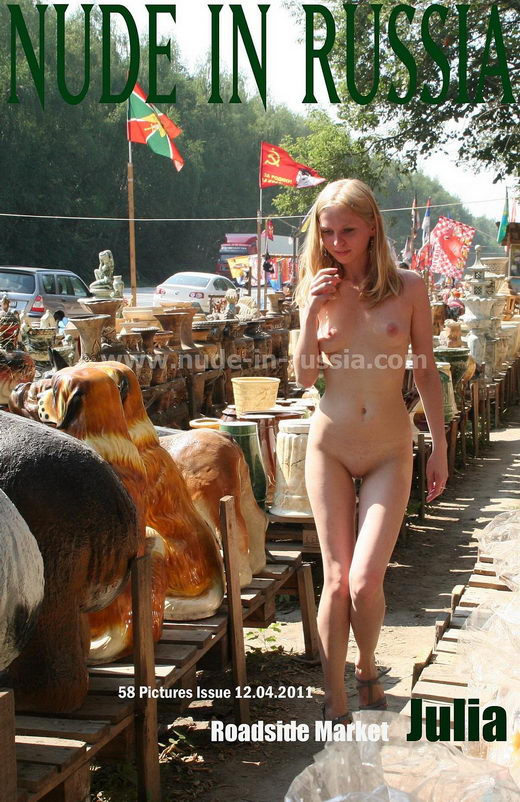 Julia - `Roadside Market` - for NUDE-IN-RUSSIA