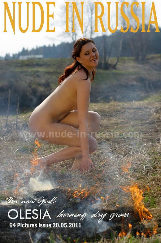 Olesia - `Burning Dry Grass` - for NUDE-IN-RUSSIA