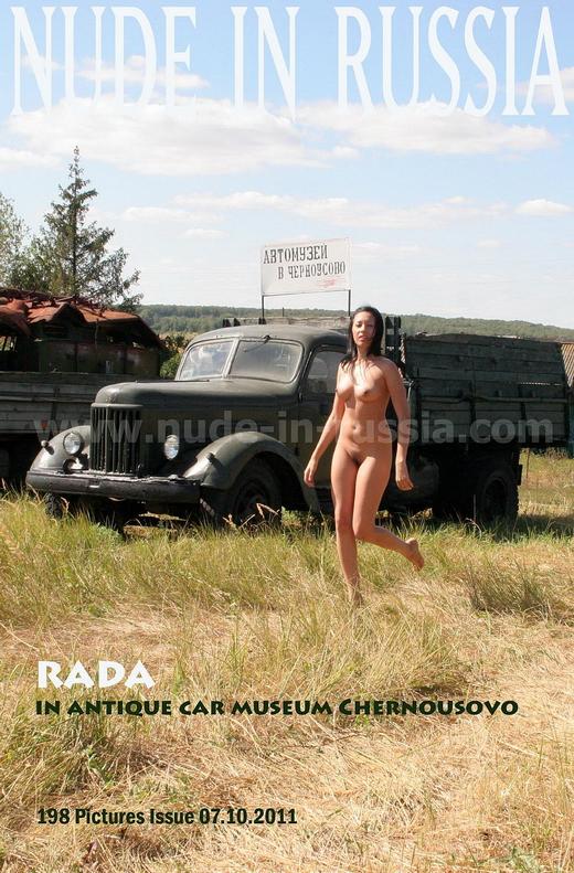 Rada - `In Antique Car Museum Chernousovo` - for NUDE-IN-RUSSIA